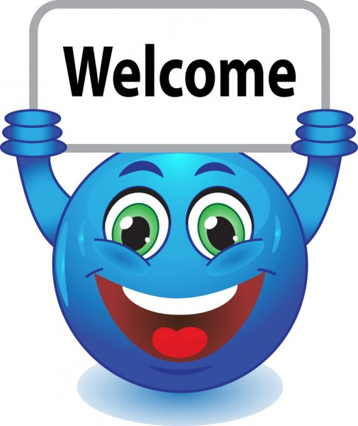 Mistyk_Imhotep Depositphotos_28668543-Smiley-with-a-sign-Welcome