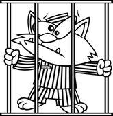 Cieľ na zajtra - Stránka 15 Depositphotos_13984467-Cartoon-cat-in-jail
