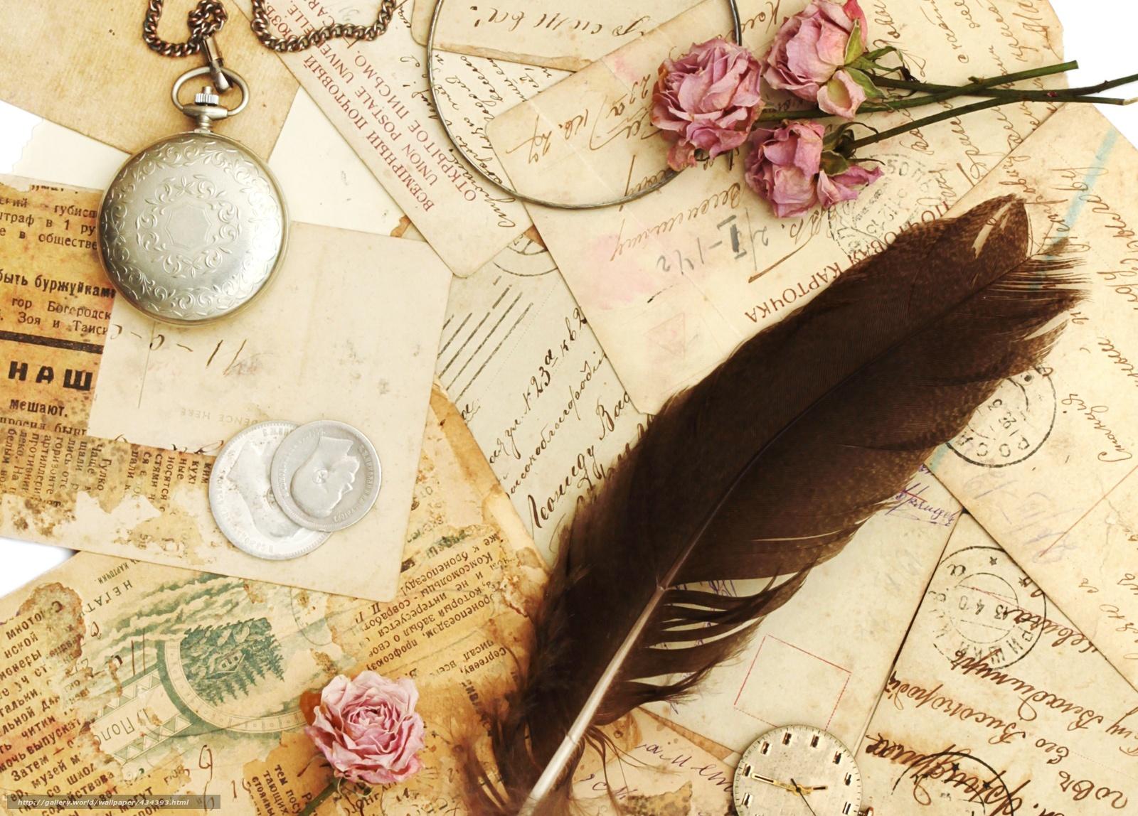 Pisem ti pismo... 434393_vintazh_kartochki_otkrytki_pisma_pero_rozy_suxie_c_2635x1890