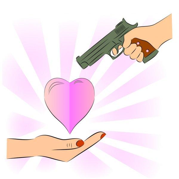 Apuntar al corazón Depositphotos_54825567-Man-pointing-a-gun-at