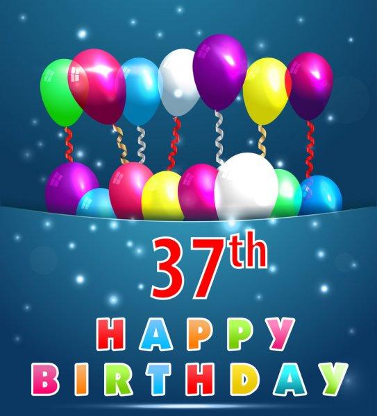 Feliz Cumple maverik2003 Depositphotos_64053423-37-year-happy-birthday-card