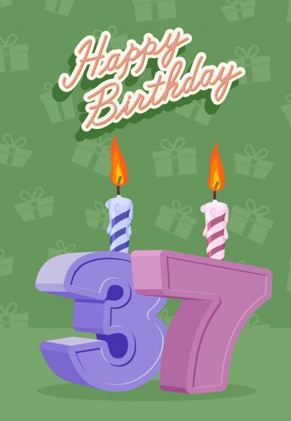 Feliz Cumple Jose Manuel  Depositphotos_66225963-37-year-Happy-Birthday-Card