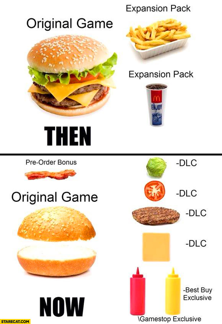 Fallout 4 DlC thoughts. - Page 2 Games-now-and-then-burgers-original-game-expansion-pack-dlc-content