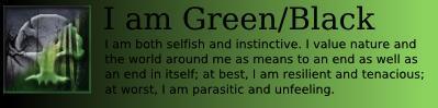 I am Black/Green