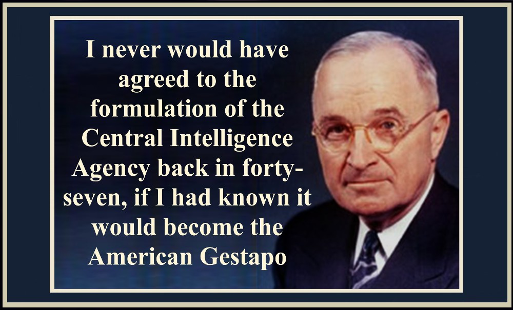 """A Monolithic and Ruthless Conspiracy"" Truman-on-the-CIA"