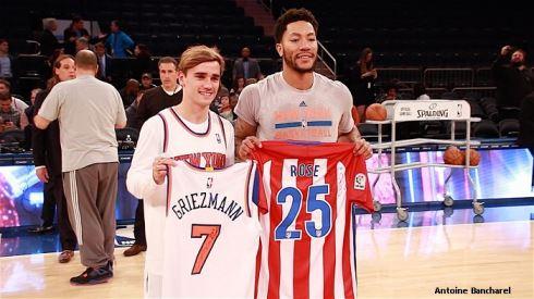 ¿Cuánto mide Derrick Rose? - Altura - Real height Antoine-Griezmann-et-Derrick-Rose