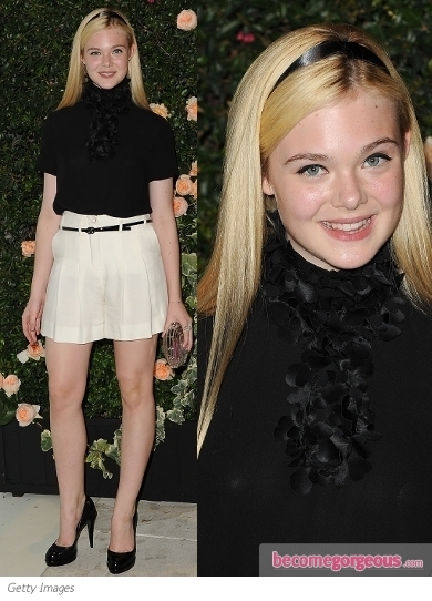 Elle Fanning Dakota-fanning-chanel-party-outfit