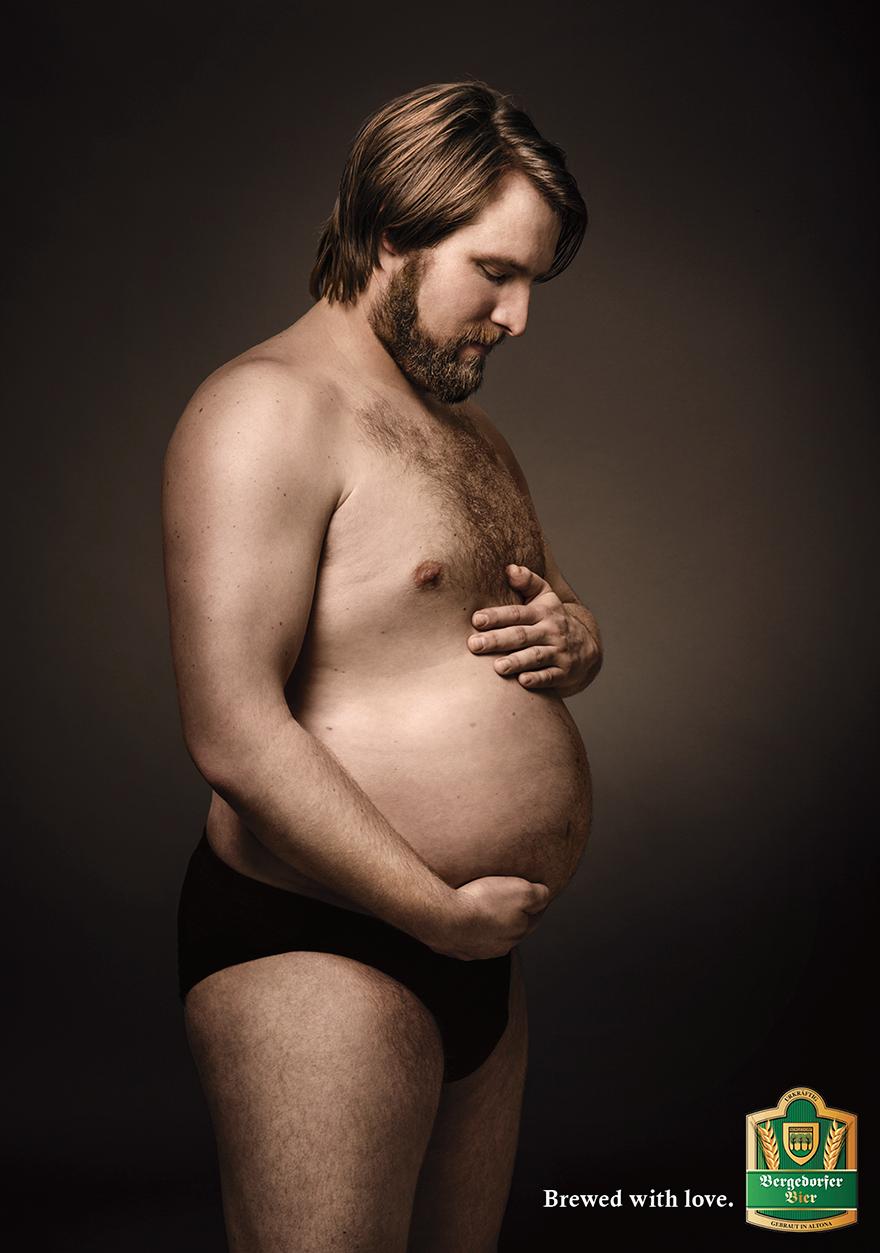 Kuidas näeb välja rase transmees? Bergedorfer-funny-beer-ad-pregnant-men-maternity-brewed-with-love-jung-von-matt-2