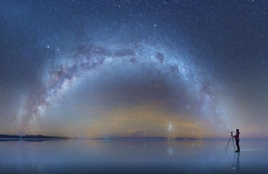 Fotos de la Vía Láctea desde los desiertos de sal en Bolivia Salar-de-uyuni-milky-way-daniel-kordan-bolivia-1