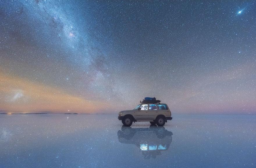 Fotos de la Vía Láctea desde los desiertos de sal en Bolivia Salar-de-uyuni-milky-way-daniel-kordan-bolivia-2