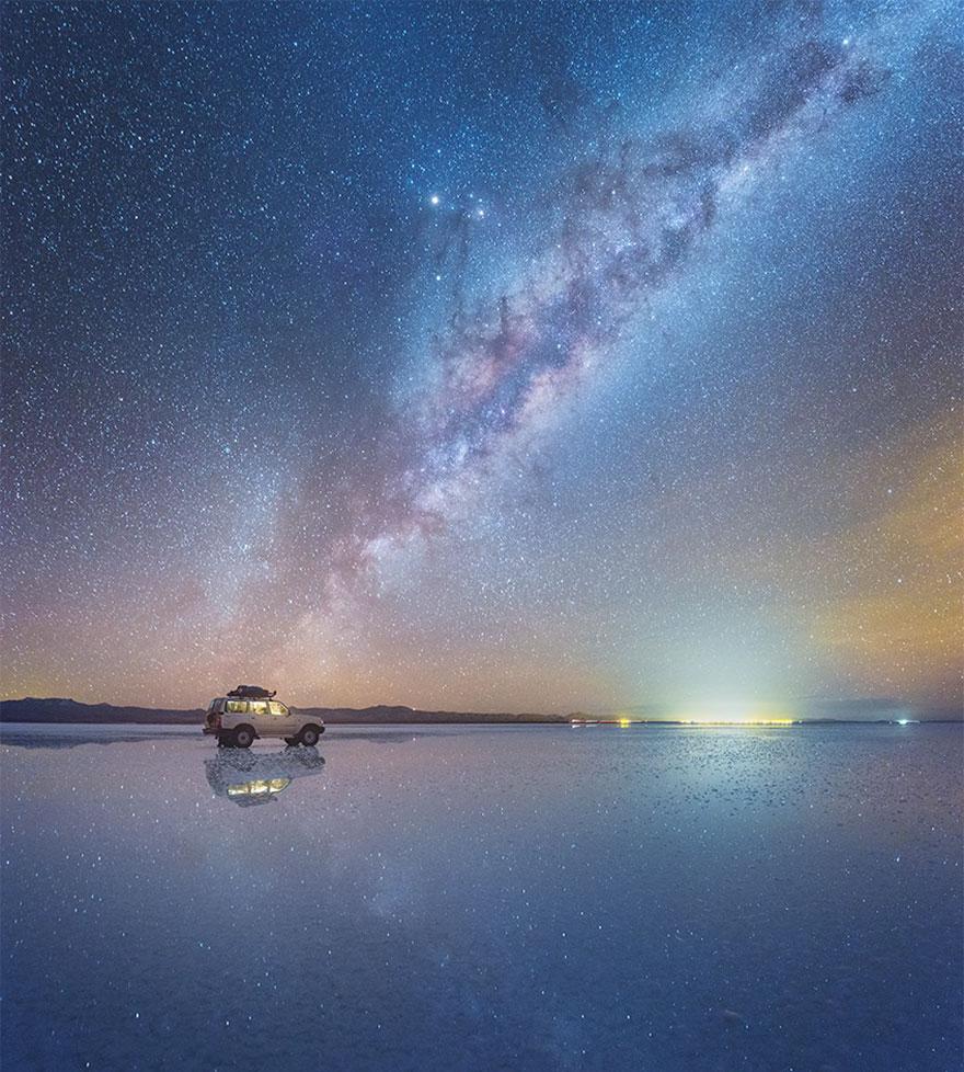 Fotos de la Vía Láctea desde los desiertos de sal en Bolivia Salar-de-uyuni-milky-way-daniel-kordan-bolivia-4