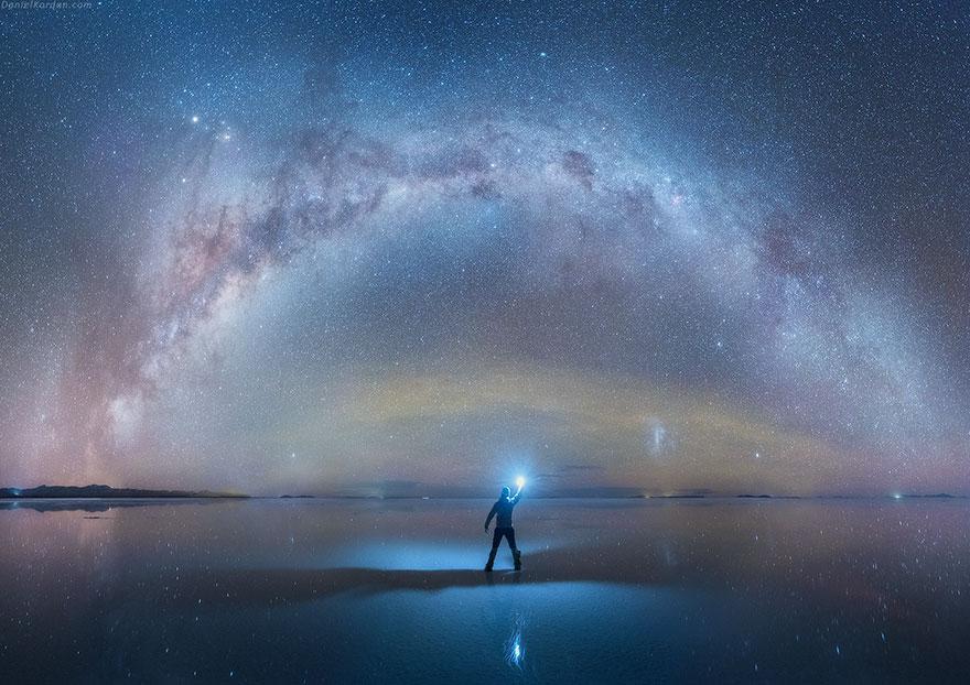 Fotos de la Vía Láctea desde los desiertos de sal en Bolivia Salar-de-uyuni-milky-way-daniel-kordan-bolivia-5