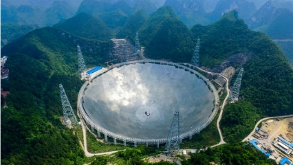 Mysterious Radio Burst Picked up by China's Radio Telescope 478138-five-hundred-meter-aperture-spherical-telescope-fast-world-s-largest-radio-telescope-tianyan-telescope-guizhou-province-science-technology-space-mission-telescopic-equipment-getty-images