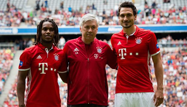 ¿Cuánto mide Renato Sanches? - Real height Renato-Sanches-Carlo-Ancelotti-Matt-Hummels