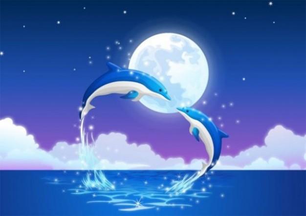 MOON NIGHT - Página 2 Delfines-en-el-fondo-del-vector-luz-de-la-luna_279-9649