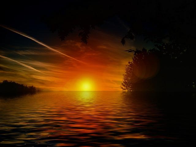 POEMAS SIDERALES ( Sol, Luna, Estrellas, Tierra, Naturaleza, Galaxias...) - Página 6 Ver-ola-naranja-cielo-nubes-sol-agua_121-76896