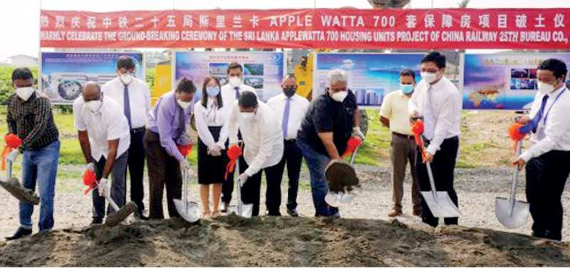 Construction of Rs. 4 b second phase of the Apple Watta housing scheme begins Image_7e6f8e798e