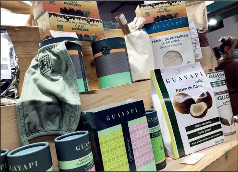 Ceylon Tea dyed and branded masks distributed at 'Salon Zen' exhibition Image_9e247c8c8d