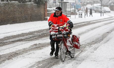 In praise of the postman (US trans: mailman) Postman-and-bike-in-snow-007