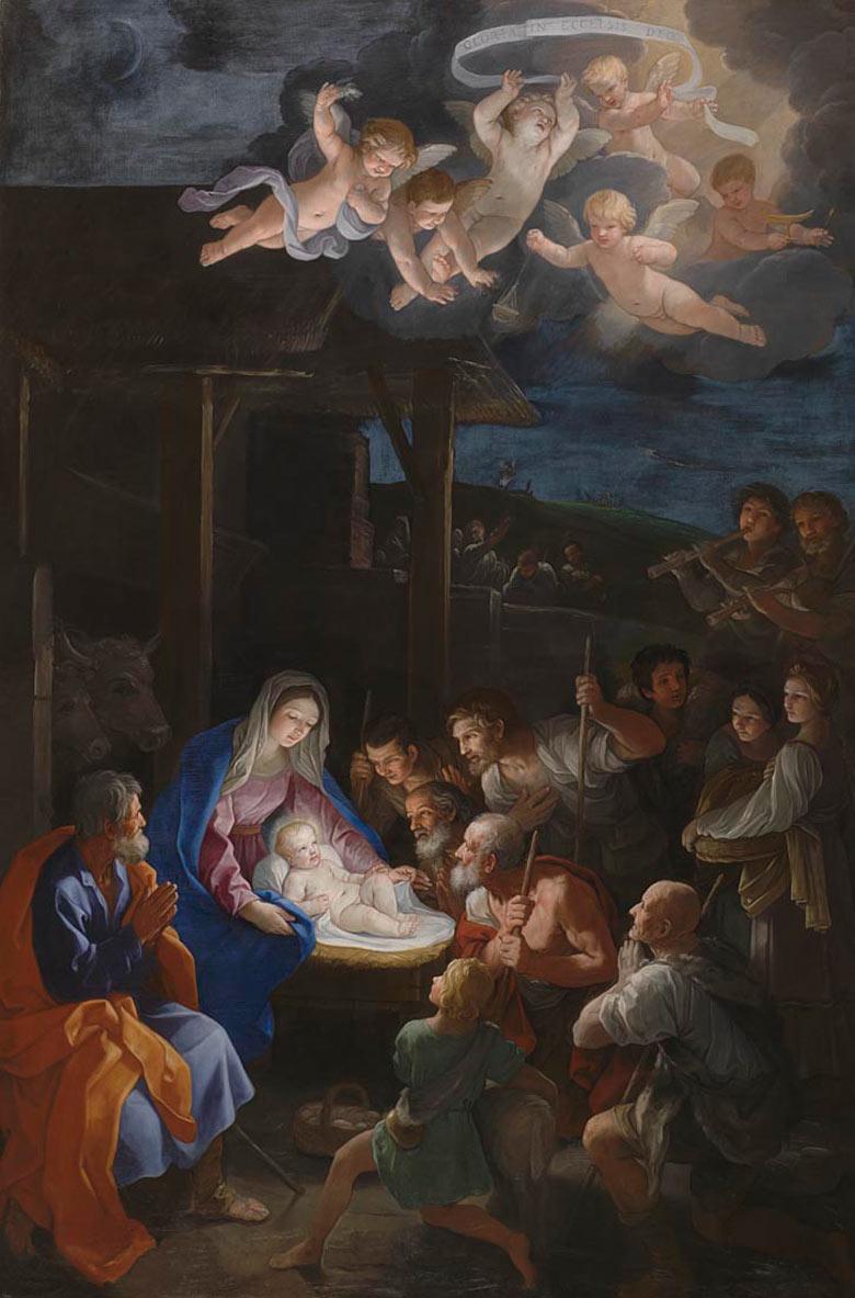 Nativity Scenes Guido-Renis-The-Adoration-008