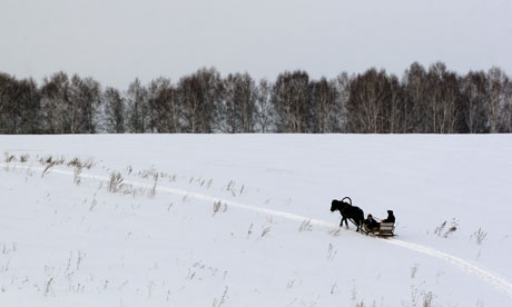 Tolstoy's War and Peace A-horse-drawn-sleigh-in-S-007