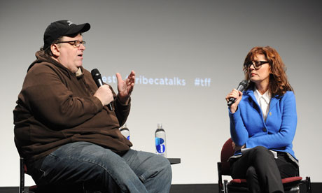 Polemical documentary film-maker Michael Moore Michael-Moore-and-Susan-S-008