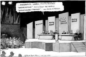 Cartoonist Steve Bell Steve-Bell-Paddy-Ashdown--001