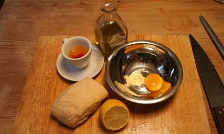 Receta Sopa de Pescado Francesa Bouillabbaise / Fácil preparación, gusto selecto. 7.Rouille_ingredients