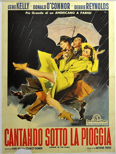 Vintage movie musicals posters Singin-in-the-Rain-poster-002
