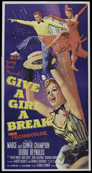 Vintage movie musicals posters Give-a-Girl-a-Break-poste-007