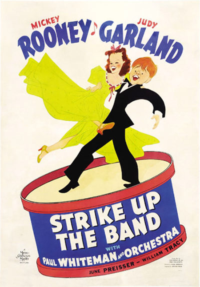 Vintage movie musicals posters Strike-Up-The-Band-poster-009