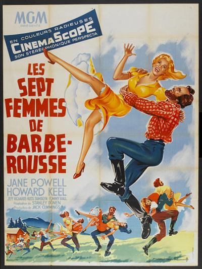 Vintage movie musicals posters Seven-Brides-For-Seven-Br-010