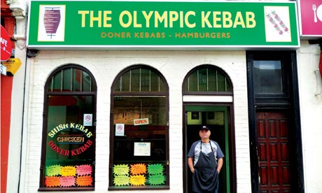 Iain Sinclair: London 2012 Olympics development project provokes Welsh psychogeographer's rage The-Olympic-Kebab-shop-in-008