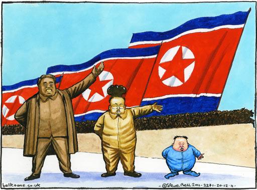 North Korea 19.12.11-Steve-Bell-on-Ki-001