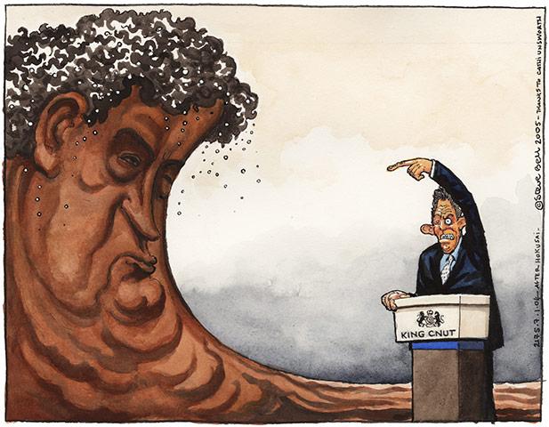 Cartoonist Steve Bell 2005-002
