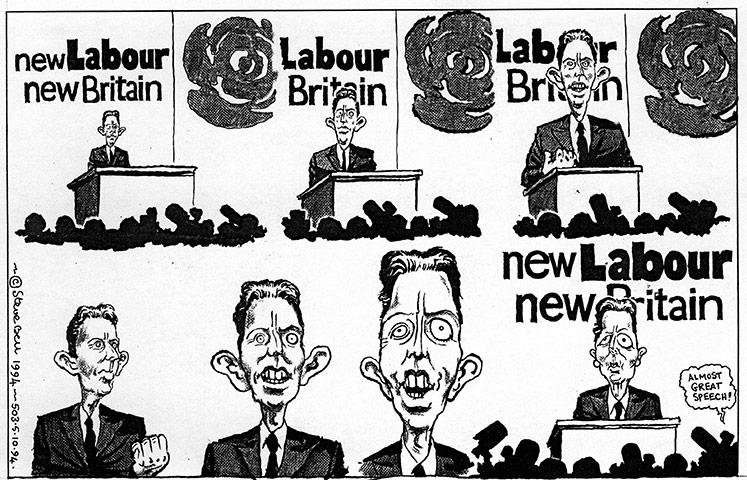 Cartoonist Steve Bell -1994-003