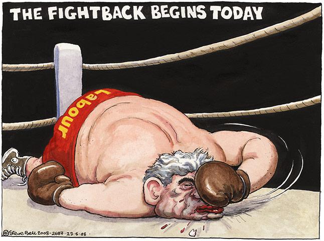 Cartoonist Steve Bell May-2008-006