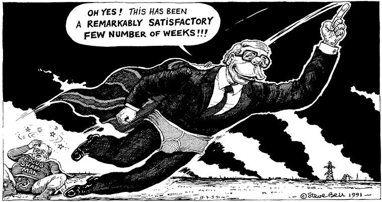 Cartoonist Steve Bell March-1991-007