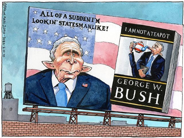 Cartoonist Steve Bell November-2010-012