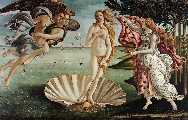 Paintings that look interesting if you're on mescalin Birth-of-Venus-by-Sandro--003