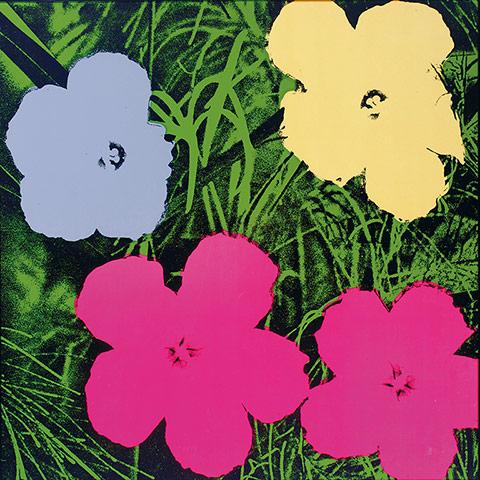 Flower paintings Flowers-by-Andy-Warhol-001