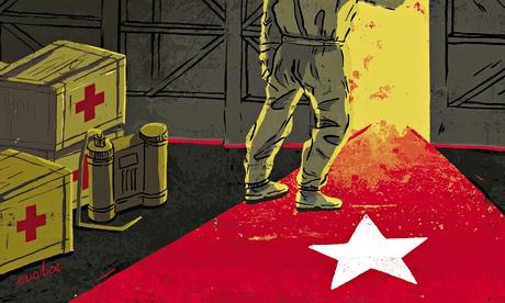 Articolo su THE GUARDIAN chiede la fine dell'embargo, esaltando il sistema sanitario kubano Illustration-for-Cubas-gl-011