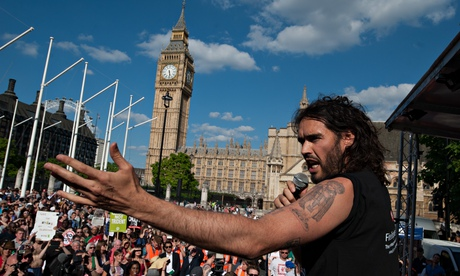 Tens of thousands march in London against coalition's austerity measures  Russell-Brand-011