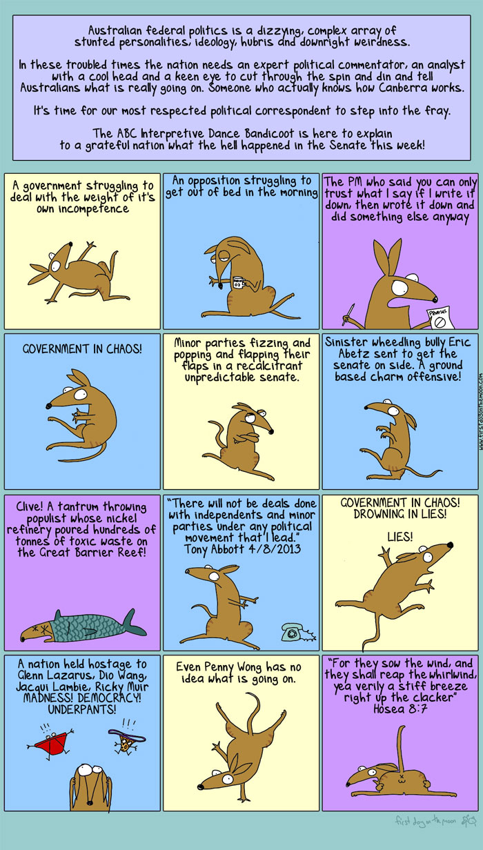 The First Dog on the Moon explains the state of play in Oz politicas Firstdog-bandicoot-700w