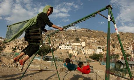 "The ""War on Terror"" Kabul-girl-on-swing-007"