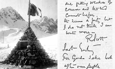 The literature of polar exploration - Page 2 Scott-monument-and-letter-007