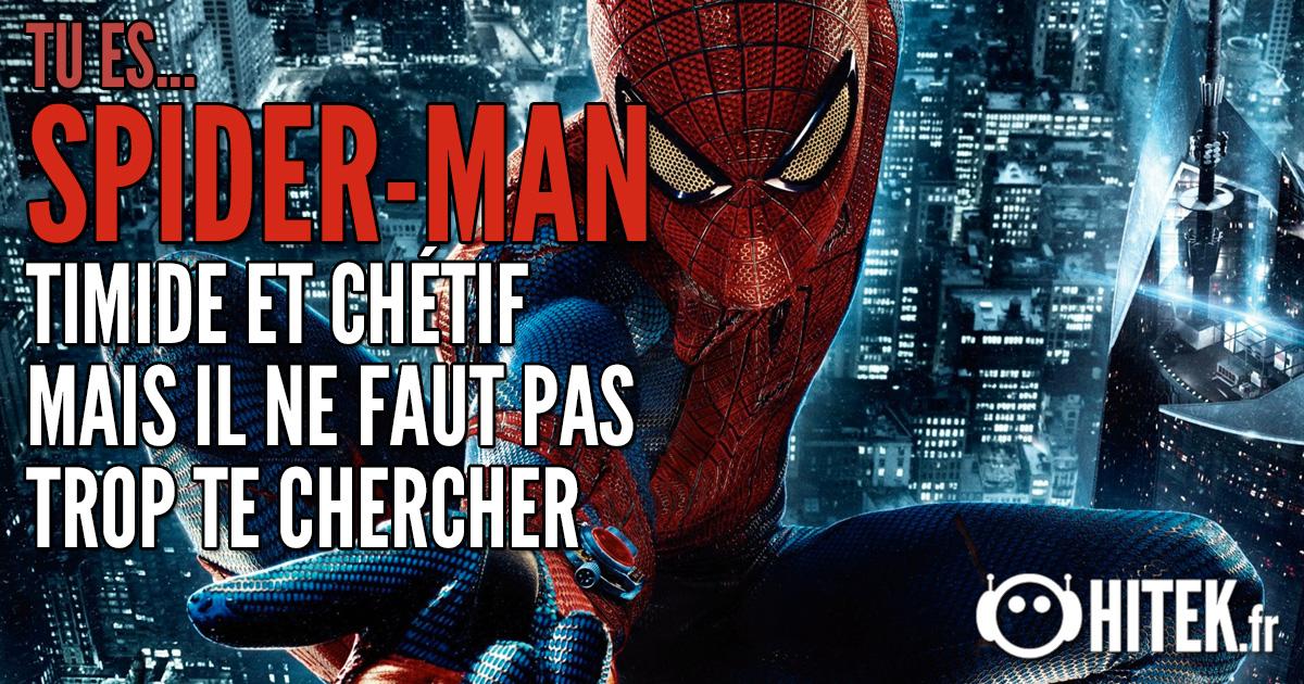 [Test] Quel super-héros es-tu ? 2.0 Spiderman