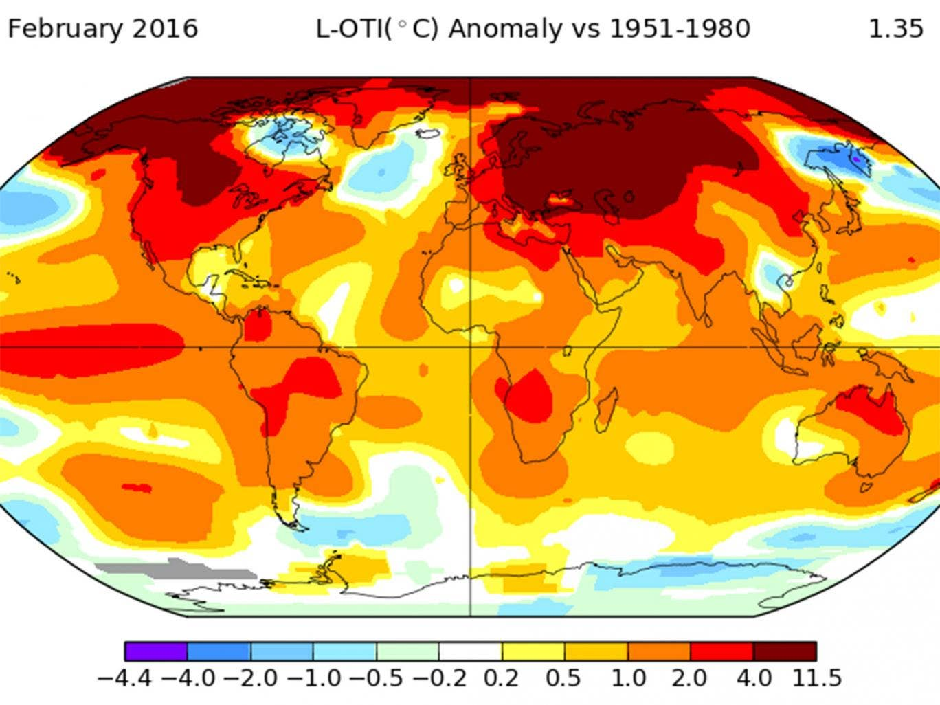 February smashes monthly world temperature records by 'shocking' amount as 'climate emergency' declared February-temperatures