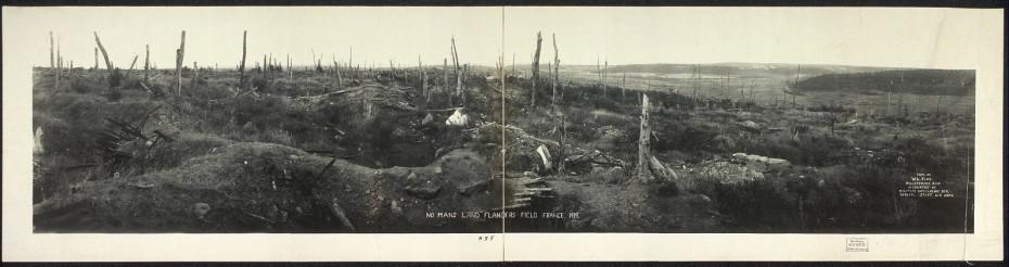 La zona prohibida que lleva envenenada y abandonada un siglo No-mans-land-flanders-field-930x246