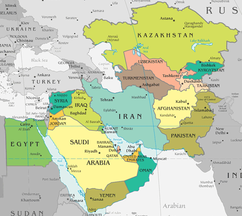 The American Empire is collapsing Centcom-aor-map